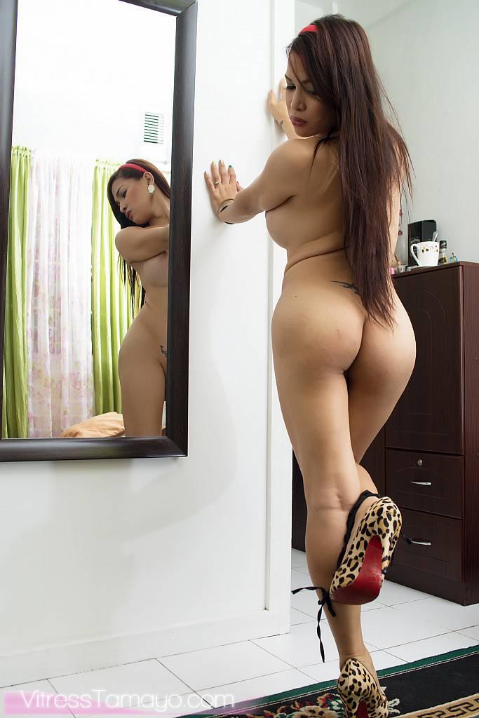 Heels, hair, ass